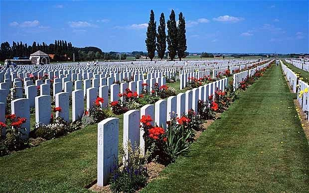 War Cemetery at the Belgian city of Ypres - Ypres, Belgium: Pete Waterman remembers 'that infernal battle'