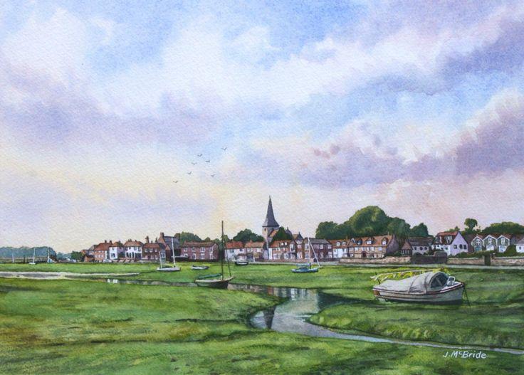 Bosham Village, West Sussex - watercolour