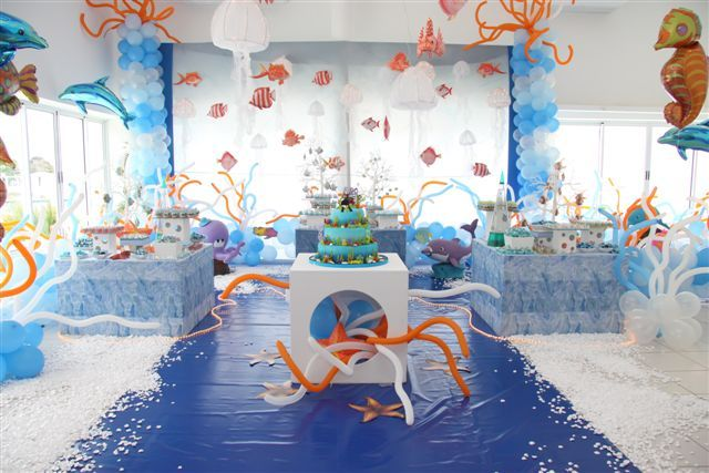 under the sea food ideas | boubou: Under the sea...party - Festa fundo do mar