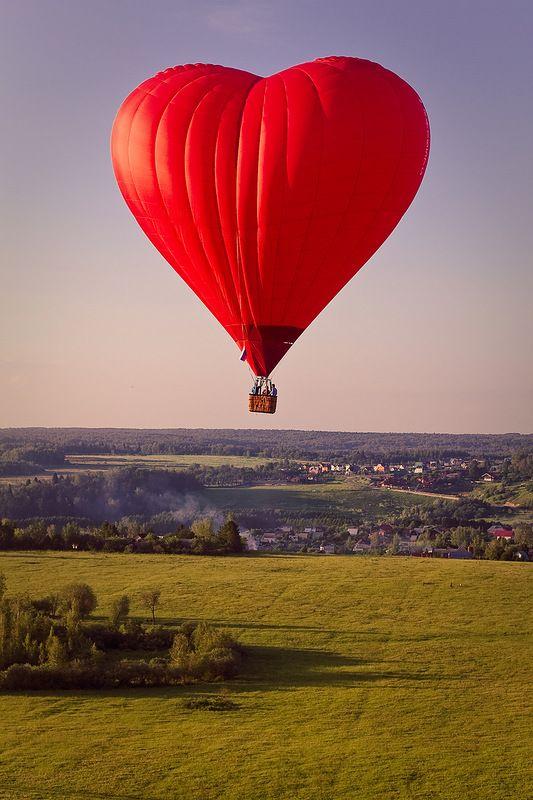 Really? A wonderful heart-shaped hot air balloon!