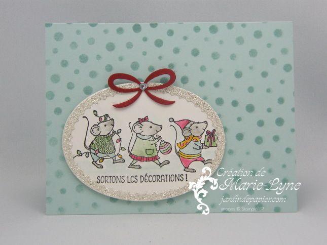 Cartes de Noël avec les souris de Stampin'UP! - Scrapbooking Stampin Up Canada   Cartes d'anniversaire et d'invitation   Faire part mariage   Jardin de Papier