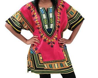 FAST SHIPPING - WOMEN African dashiki shirt, Kente Shirt , all sizes