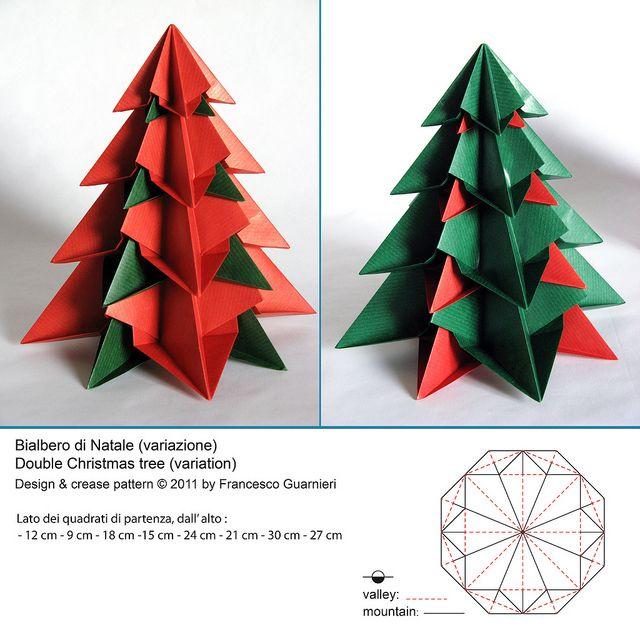 Bialbero di Natale (variazione) - Double Christmas tree (Variation) by f.guarnieri, via Flickr