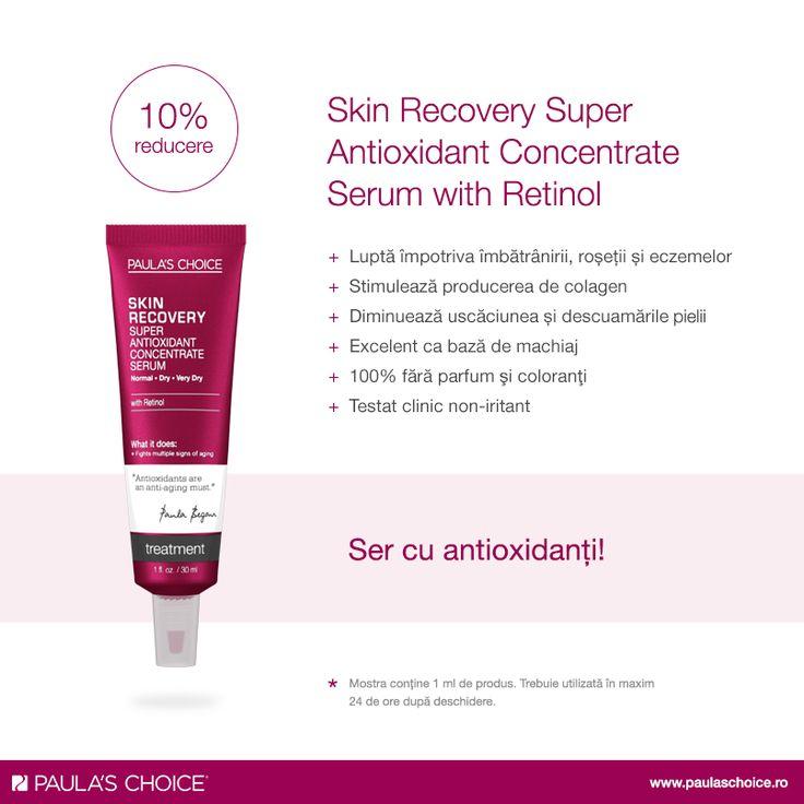 Tenul uscat poate deveni și mai problematic pe parcursul verii. Soluția pentru a-i oferi un plus de luminozitate și hidratarea necesară este serul bogat în antioxidanți, Skin Recovery Super Antioxidant Concentrate Serum with Retinol. Este ideal ca bază de machiaj, ajutând fondul de ten să se întindă perfect. Ajută la refacerea celulelor pielii, acționând ca o barieră ce protejează pielea de efectele negative cauzate de mediul înconjurător.