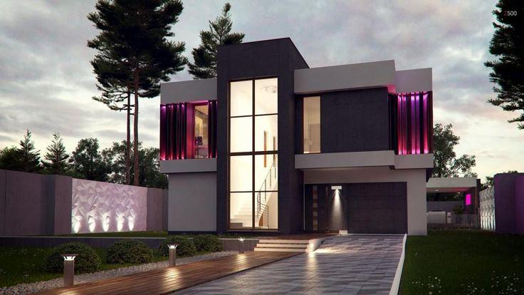 Проект футуристического дома Zx124 - http://archidom.by/proekty-domov-i-kottedzhej/proekt-futuristicheskogo-doma-zx124/…