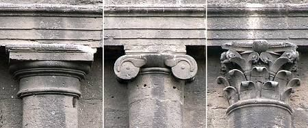 The three orders on the Colosseum.  Notice that the architrave is essentially identical.