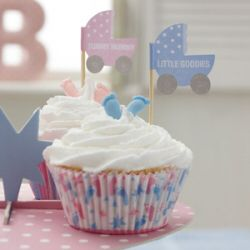 Create stunning cupcakes and decorate with cute cake flags. Can also be used to add to other treats by www.fuschiadesigns.co.uk
