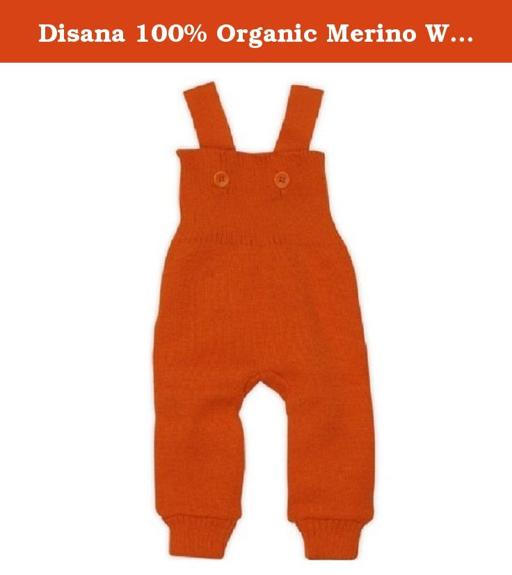 Disana 100% Organic Merino Wool Knitted Trausers/pants Made in Germany (12-24 months, Orange). All-round comfort with Disana knitted trousers, complete with braces. When a child is lying down, crawling or taking her fi rst steps, our Disana knitted trousers with braces make sure she is thoroughly warm and comfortable. The waistband is especially high to keep her tummy and back warm, and two removable braces keep everything in place. These Disana knitted trousers are designed with plenty…