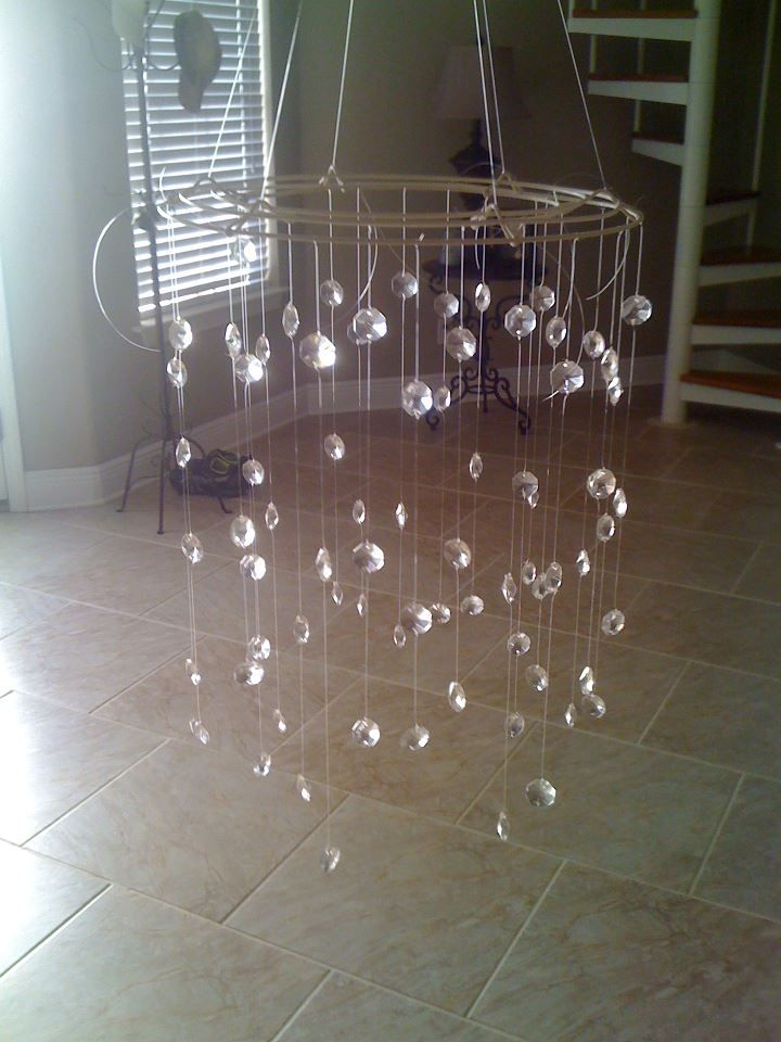 God bless {our} nest: DIY: Crystal Baby Mobile-INSTRUCTIONS ON HOW TO MAKE THE MOBILE. Sweeeet!