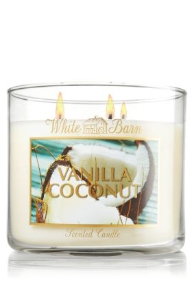 VANILLA COCONUT 3-Wick Candle - Slatkin & Co. - Bath & Body Works - Where did this come from?!!? I needs it!!!