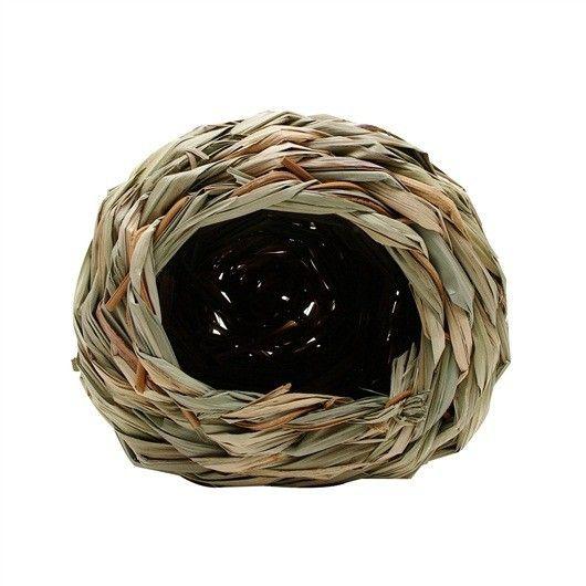 Cueva de Heno LIVING WORLD  - #FaunAnimal La acogedora cabaña proporciona un descanso cómodo y zona de nidificación para los animales pequeños, como hámsteres, hámsteres enanos y ratones.
