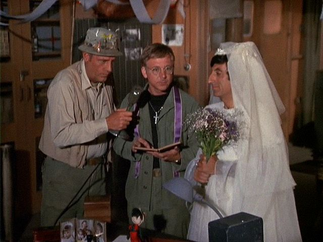M*A*S*H: Season 3, Episode 6 Springtime (15 Oct. 1974) Jamie Farr , Corporal Maxwell Q. Klinger, mash, 4077, McLean Stevenson , Lt. Colonel Henry Blake, mash, 4077, 4077, mash , William Christopher,Father Francis Mulcahy,