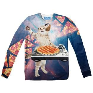 DJ Pizza Cat Youth Sweater