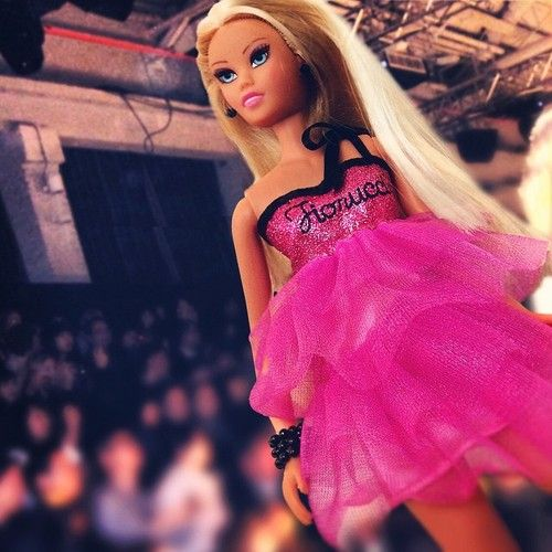 our fashion blogger at the fashion show!