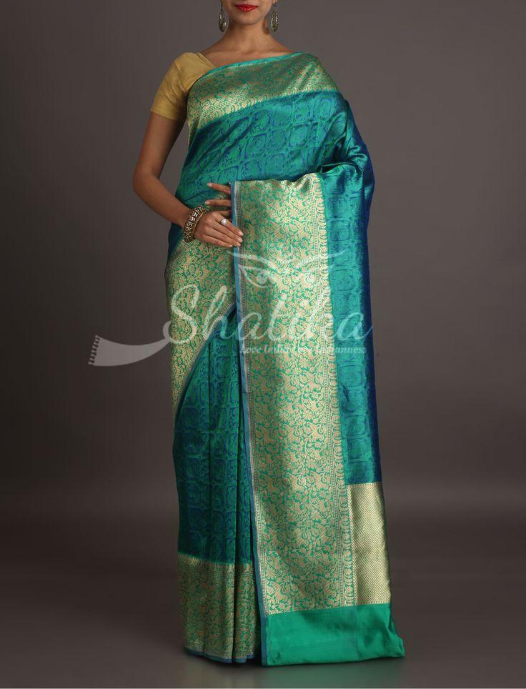 Kangana Self-Weave Design Ornate Border Pallu Banarasi Organza Silk Saree