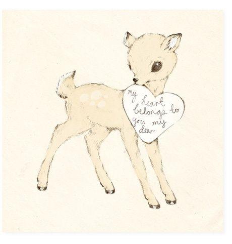 : Deer Picture, Baby Deer, Inspiration, Sweet, Illustration, My Heart, Valentine