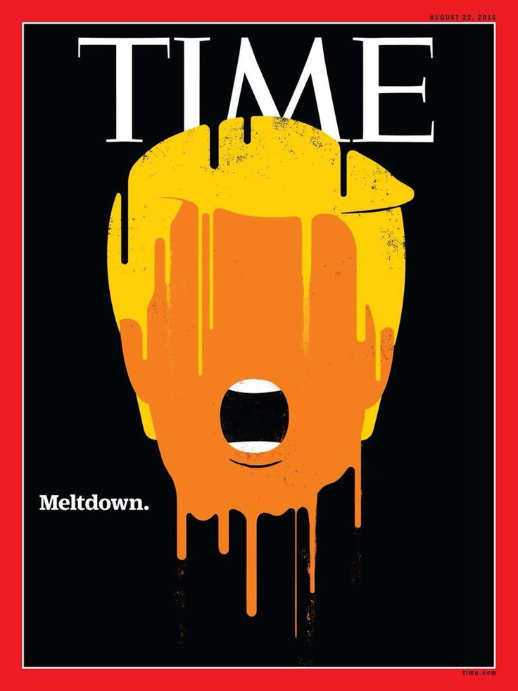 Donald Trump Melts Down on the Cover of Time Magazine - Print (image)…