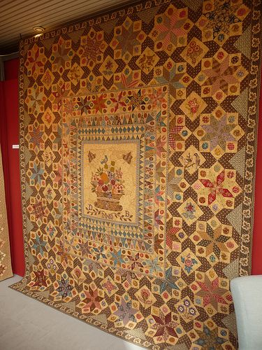 """The Burnt Quilt """"an 1819 quilt by Catherine Tompkins which was used to…"""