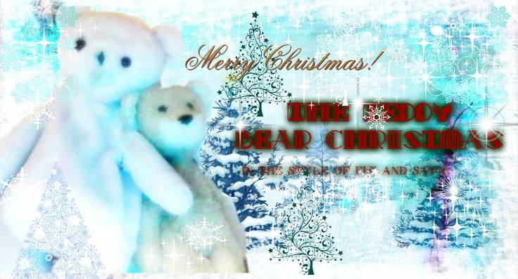 """""""The Teddy bear Christmas"""" Wallpaper for desktop and you can print it!"""