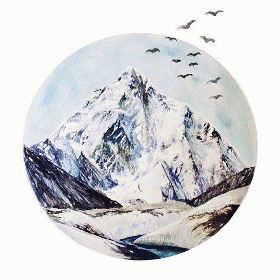 горы рисунок тату - Поиск в Google