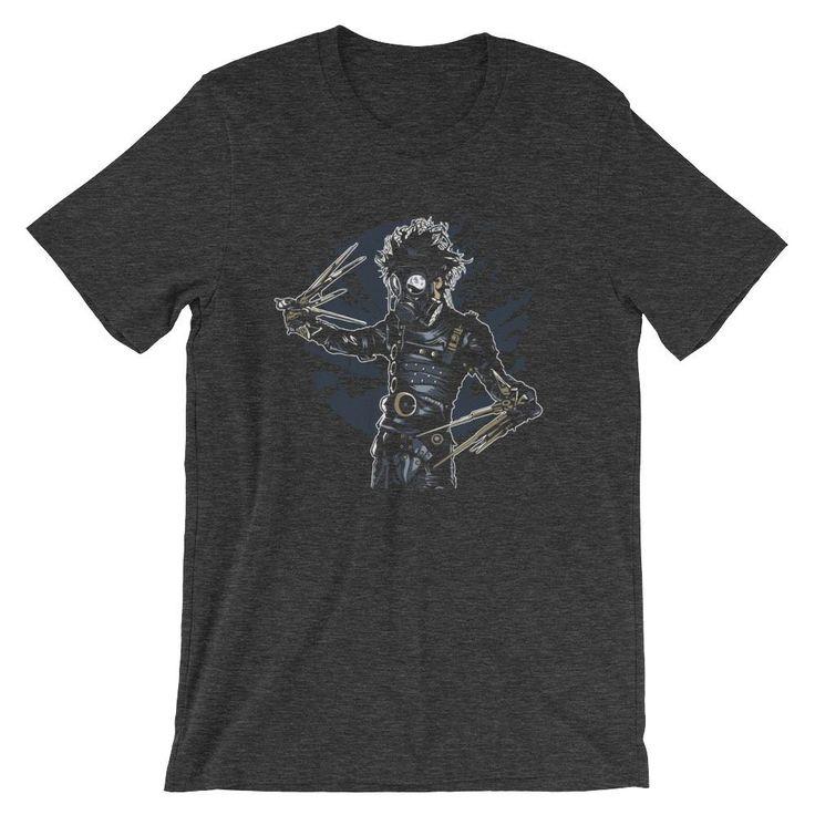Gasmask Edward Scissor Hands Short-Sleeve Unisex T-Shirt