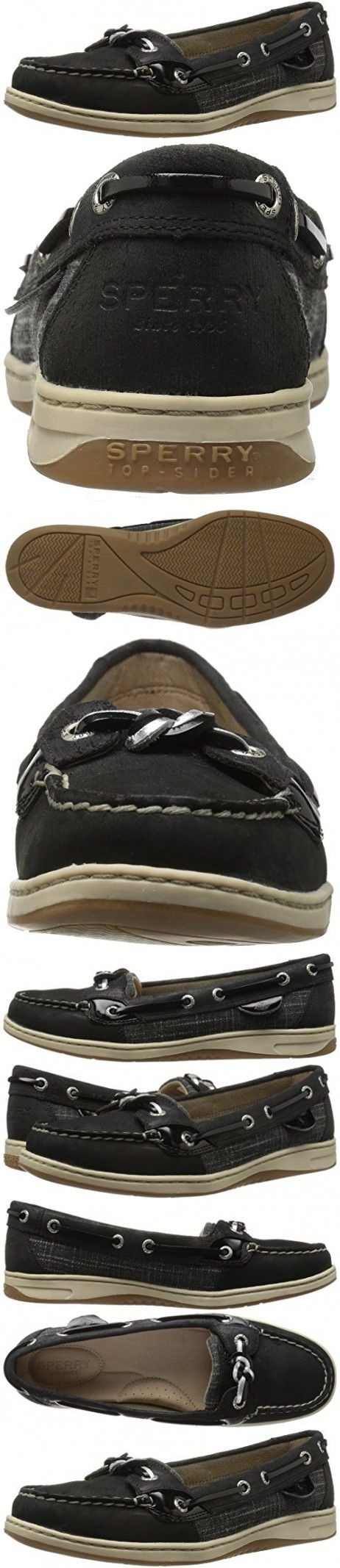 Sperry Top-Sider Women's Sandfish Boat Shoe, Black, 6.5 M US