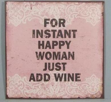 La Finesse Sign Just add wine