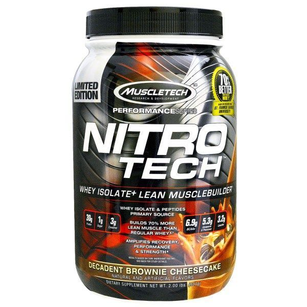 Muscletech Nitro-Tech Whey Isolate on #iHerb 45% + $5 OFF - Now $22.47 #RT #supplement Discount applied in card