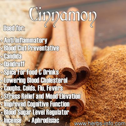 ❤ Spice Of The Day: Cinnamon- learn all the extra uses for cinnamon that you wouldn't even think of ❤