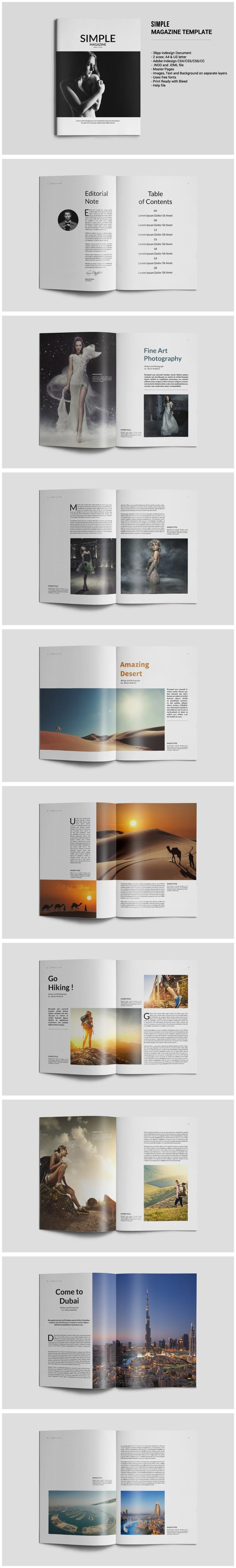 #magazine #design from tujuhbenua | DOWNLOAD: https://creativemarket.com/tujuhbenua/547368-Simple-Magazine-Template?u=zsoltczigler