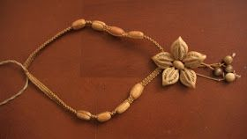 ~PAPER DOLL EVE: A GIRL DREAMS~: Cuban Flower Necklace. Made With Seeds.