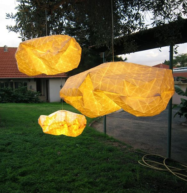 Ori light series cloud like shapes by israeli producks design studio and textile designer mika barr