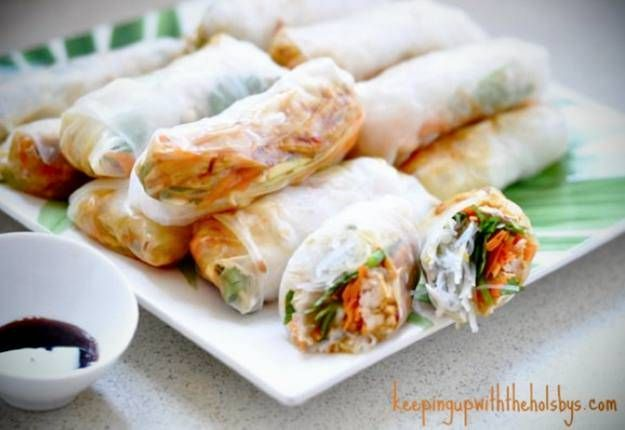 Vietnamese rice paper rolls recipe - Real Recipes from Mums
