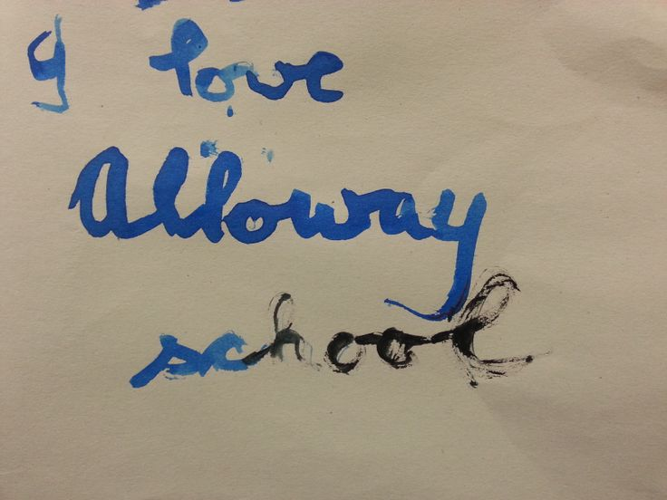 Quill writing - as taught to visitors by Alloway Primary P6