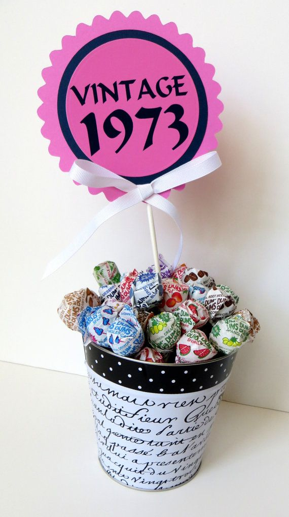 40th birthday vintage 1973 cake topper by for 40th birthday decoration