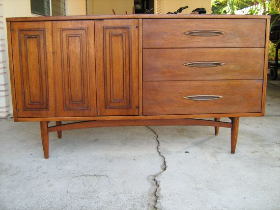 Sold mid century modern broyhill sculptra buffet by for Sideboard 3 00 m