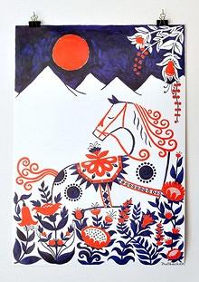 Illustrator Henning Trollbeck's dala horse.