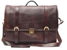Comfort 15 inch Pure Leather Brown Laptop Bag for men and women unisex EL38