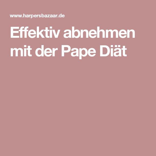 Effektiv abnehmen mit der Pape Diät