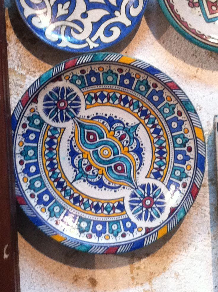 Majolica bowls and plates