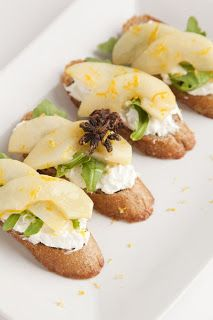 Roasted Pear and Ricotta Crostini Recipe | Recipe Ideas | Pinterest