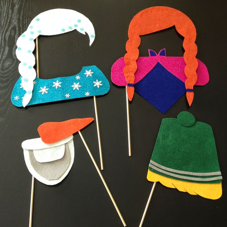 Disney's Frozen Photo Booth Props | Elsa, Anna, Olaf, and Kristoff | Sibling Party