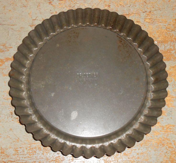 Vintage Baking Pan Tart Pan Dr Oetker Flan Dish