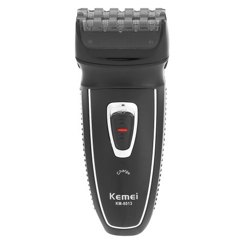 Kemei Electric Shaver Rechargeable Men Shaving Machine Hair Trimmer Dual-head Stubble Machine Big Brown Beard Shave Machine Male Facial Cleaning Tool EU Plug