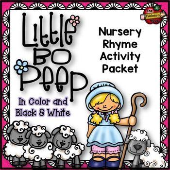 Little Bo Peep Nursery Rhyme Activity Packet