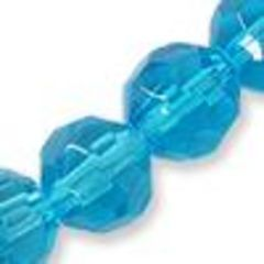 Glass facetted round, 8mm, turquoise, 10pcs for R4.00