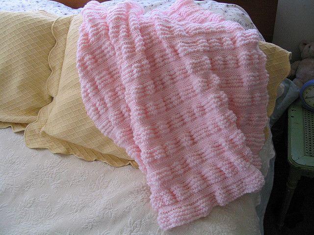 Knitted Garter Stitch Baby Blanket : Garter Stitch Ruffles Baby Blanket Knitting Pinterest Garter Stitch, Ga...