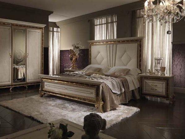 Letto con testiera alta - Letto e armadio in stile liberty per arredare la camera da letto