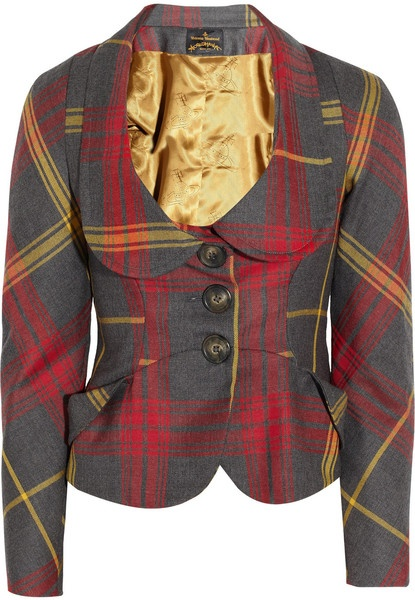 Love  VIVIENNE WESTWOOD   Scale Tartan Wool Jacket