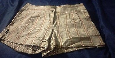 Heart & Soul Brown toned Plaid Shorts Size 3